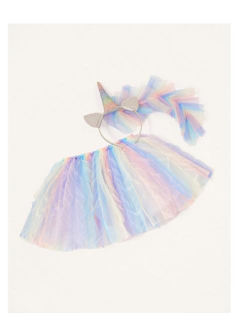 monsoon-girls-rainbow-mane-unicorn-dress-up-set-multi
