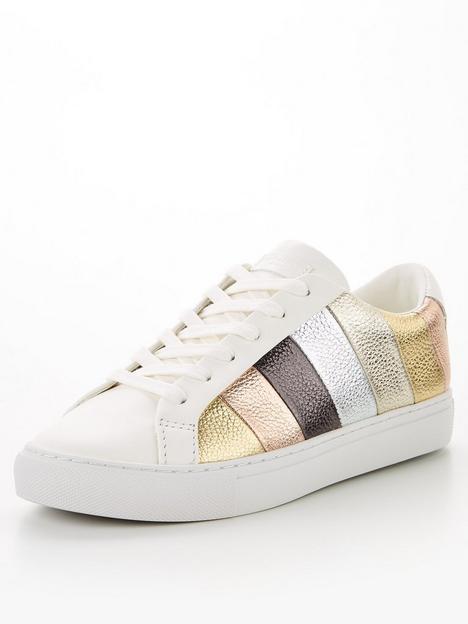 kurt-geiger-london-london-lane-stripe-trainer-gold
