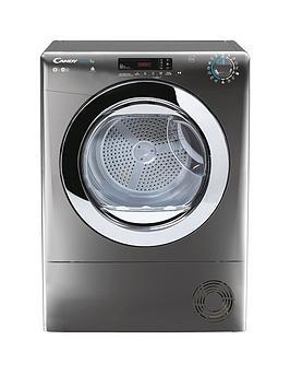 Candy Smart Pro Csoe C9Dcrg 9Kg Load Condenser Tumble Dryer - Graphite