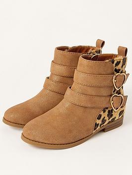 monsoon-girls-animal-double-strap-boots-tan