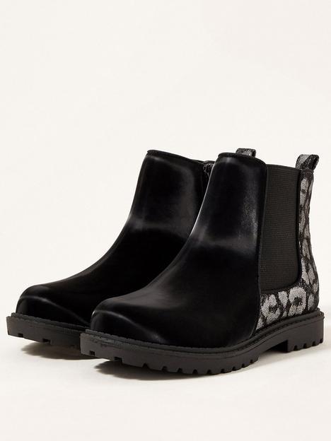 monsoon-girls-glitter-animal-chunky-chelsea-boots-black