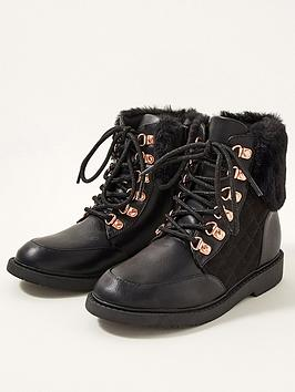 monsoon-girls-quilted-fur-trim-lace-up-boots-black