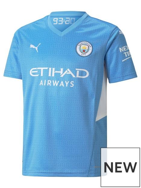 puma-youth-manchester-city-2122-home-short-sleeved-shirt-blue