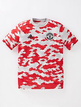 adidas-youth-manchester-united-202122nbsppre-match-t-shirt-red
