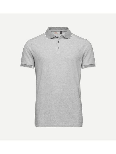 kjus-golf-stan-front-logo-polo-grey