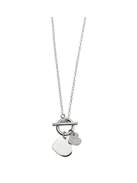 the-love-silver-collection-sterling-silver-t-bar-double-heart-necklace