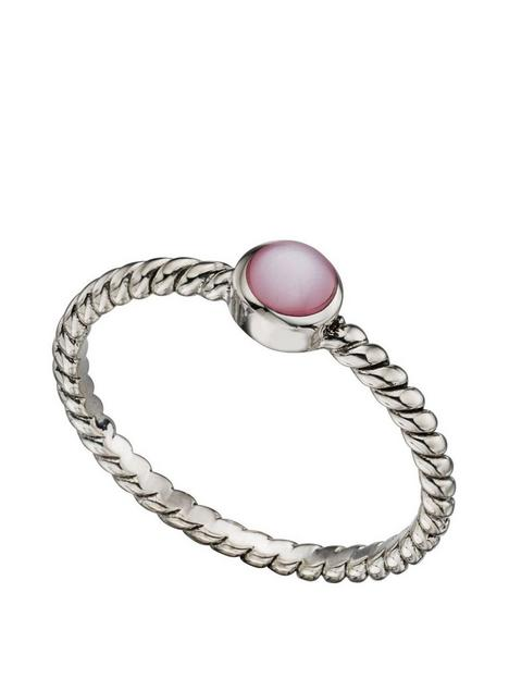 the-love-silver-collection-sterling-silver-stacking-ring-with-pink-cubic-zirconia-stone