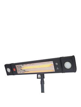 Wall Mounted Radiant Patio Heater With Remote Control & Led Lights 1800W