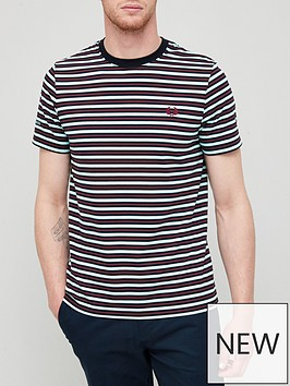 fred-perry-fine-stripe-t-shirt-blue