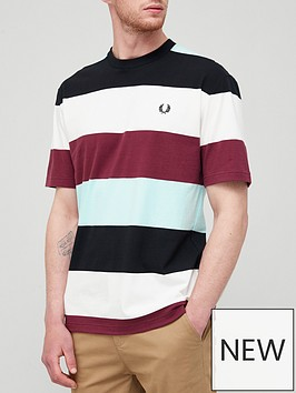 fred-perry-bold-stripe-t-shirt-black