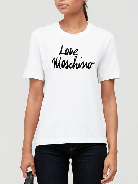 love-moschino-script-logo-t-shirt-white