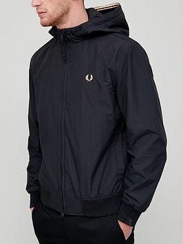 fred-perry-hooded-brentham-jacket-black