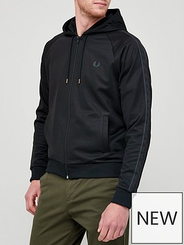 fred-perry-tonal-tape-hooded-track-jacket-black