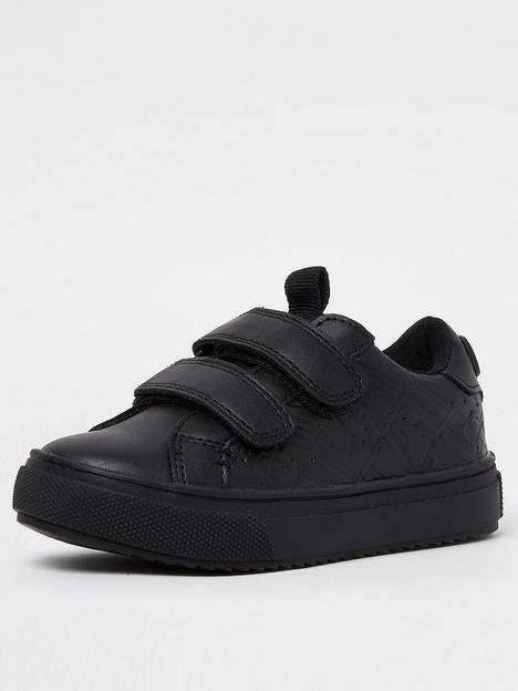 river-island-mini-mini-boys-debossed-velcro-school-shoe-black
