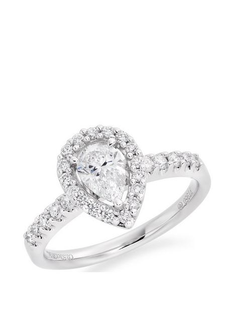 beaverbrooks-platinum-diamond-pear-shaped-halo-engagement-ring