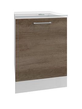 Manor Interiors Linea Nebraska Oak Integrated Dishwasher Door 600Mm Wide