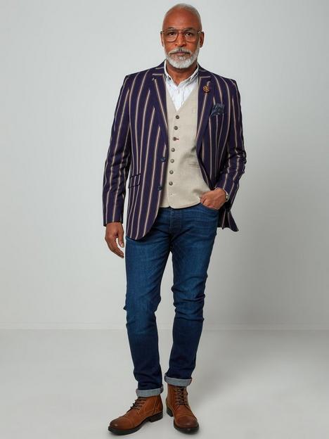 joe-browns-snazzy-in-stripes-blazer-brown