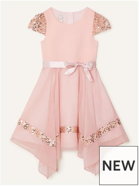 monsoon-girls-olivia-sequin-sleeve-hanky-hem-dress-pink