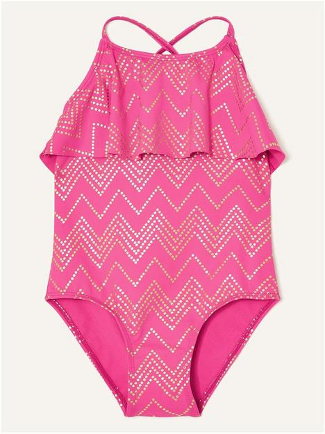 monsoon-girls-chevron-frill-swimsuit-bright-pink