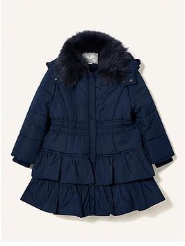 monsoon-girls-sew-shirred-ruffle-padded-hooded-coat-navy