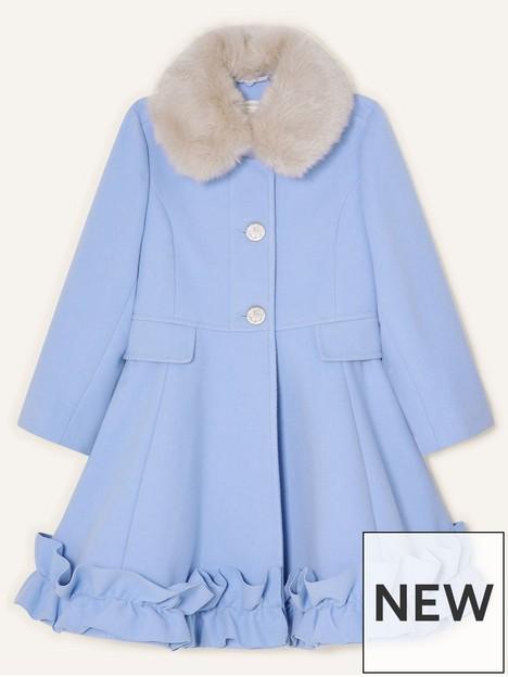 monsoon-girls-ruffle-hem-coat-pale-blue