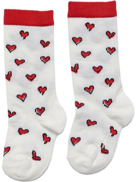 marni-infant-heart-print-socks-white