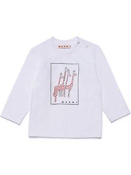 marni-infant-giraffenbsplong-sleevenbspt-shirt-white
