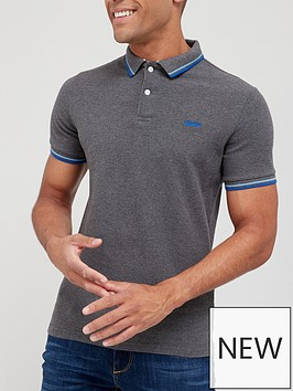 superdry-tipped-short-sleeve-pique-polo-shirt-grey