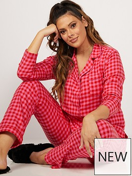 boux-avenue-boux-avenue-red-pink-gingham-pj-in-a-bag