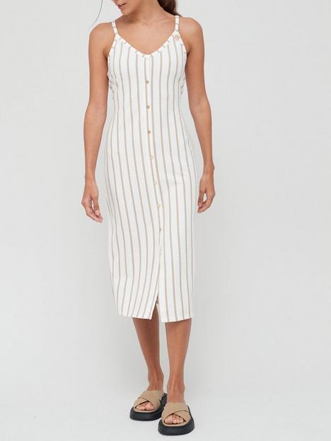 river-island-stripe-button-detail-midi-dress-white