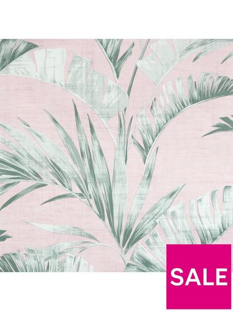 arthouse-arthouse-banana-palm-pinkgreen-wallpaper