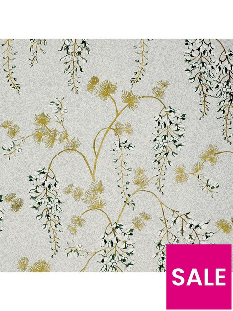 arthouse-arthouse-wisteria-floral-neutralgold-wallpaper