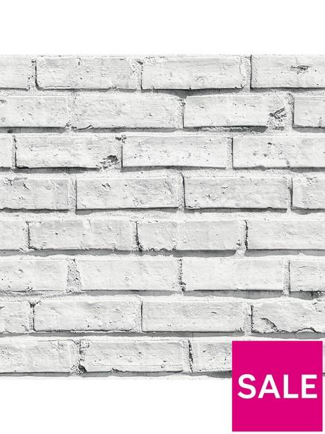 arthouse-arthouse-wipe-clean-white-brick-wallpaper