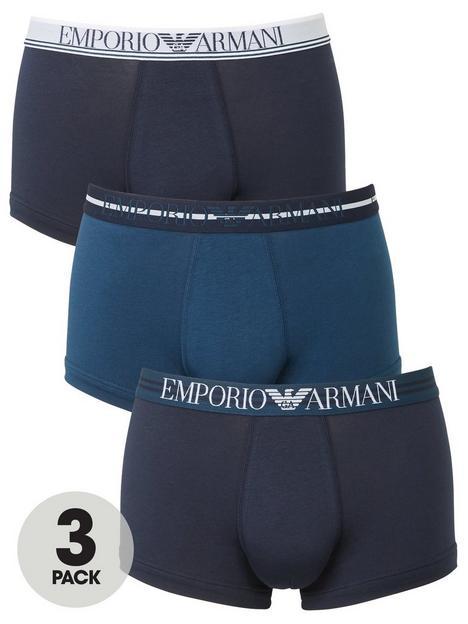 emporio-armani-bodywear-3-pack-mixed-waistband-stretch-cotton-trunks-navy