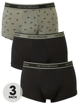 emporio-armani-bodywear-3-pack-emporio-armani-waistband-and-print-mix-trunks-black