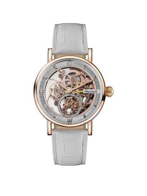 ingersoll-ingersoll-1892-the-herald-white-and-rose-gold-skeleton-dial-white-leather-strap-automatic-ladies-watch