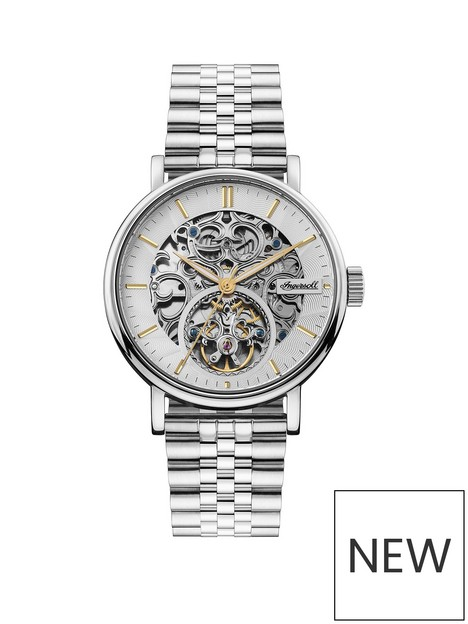ingersoll-ingersoll-charles-silver-and-gold-detail-skeleton-automatic-dial-stainless-steel-bracelet-mens-watch