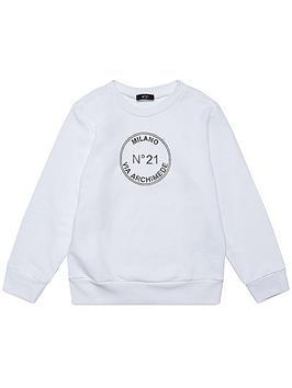 no-21-circle-logonbspsweatshirt-whiteblack