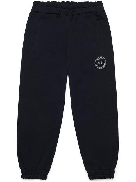 no-21-circlenbsplogo-jogging-bottoms-black