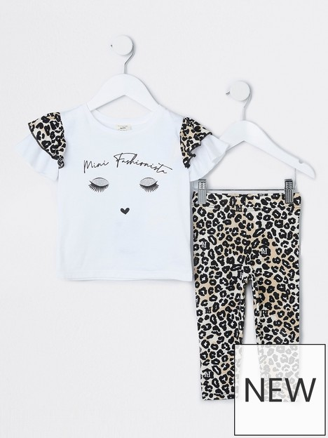 river-island-mini-mini-girls-leopard-legging-and-tshirt-set-beige