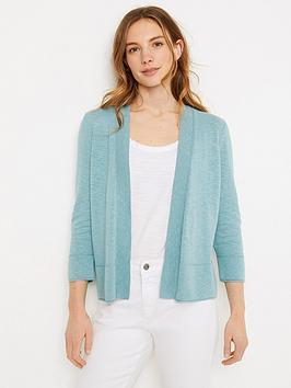 White Stuff Ocean Cardi - Blue, Blue, Size 6, Women