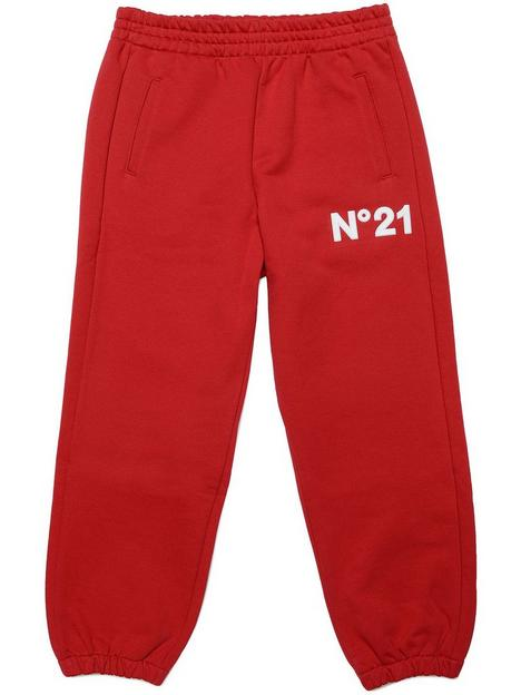 no-21-logo-jogging-bottoms-red