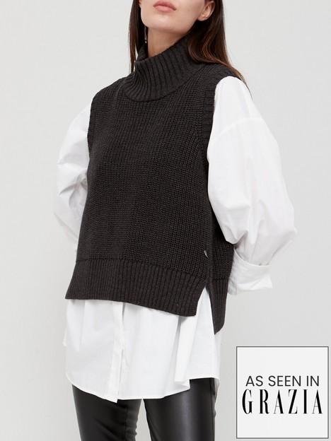 coster-copenhagen-knitted-vest-black