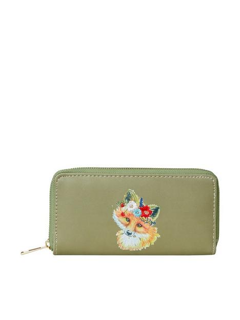 joe-browns-foxy-embroidered-purse-green