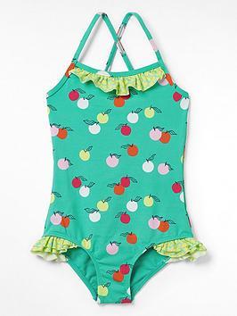 White Stuff Girls Fruity Spot Swimsuit - Teal