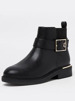 river-island-girls-buckle-boot-black