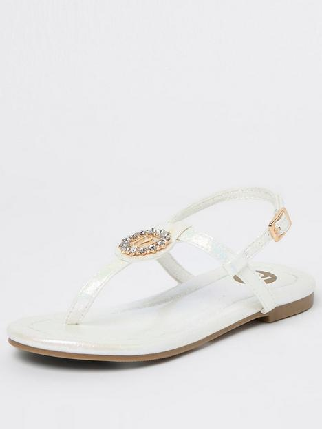 river-island-girls-holographic-sandal-white