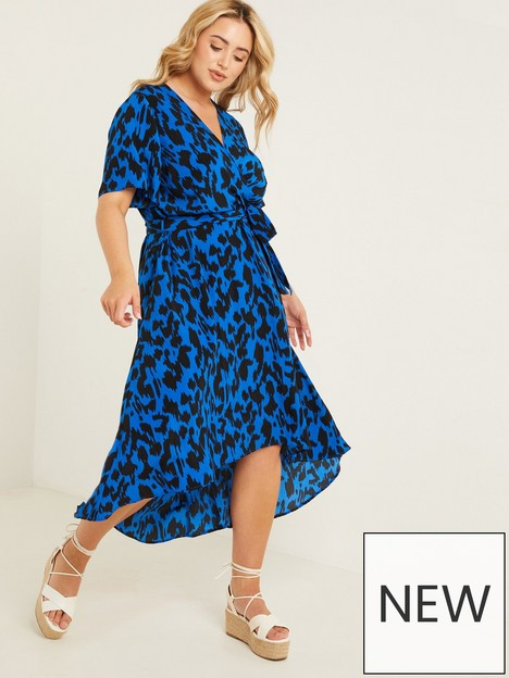 quiz-curve-curvenbspleopard-midinbspdress-blue-print