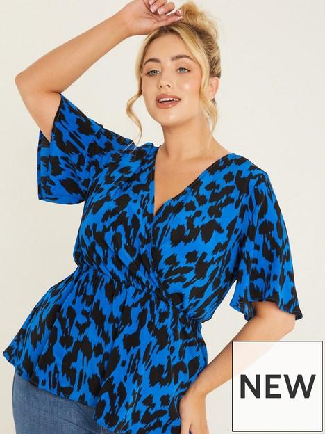 quiz-curve-leopard-wrapnbsptop-blue