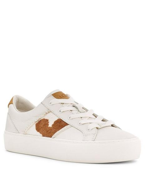 ugg-dinale-cow-print-trainer-white